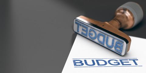 Obraz Budget prévisionnel, budgéter un projet ou des travaux. - fototapety do salonu