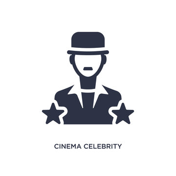 cinema celebrity icon on white background. Simple element illustration from cinema concept.