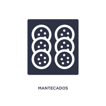 mantecados icon on white background. Simple element illustration from culture concept.