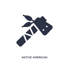 native american tomahawk icon on white background. Simple element illustration from culture concept.