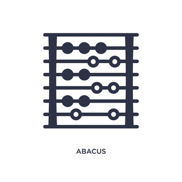 abacus icon on white background. Simple element illustration from education concept.