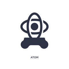atom icon on white background. Simple element illustration from literature concept.