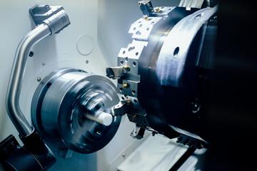 Fototapeta The CNC lathe machine  obraz