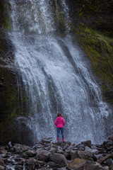 Waterfall near Svodufoss on west side of Snaefellsnes peninsula at Iceland