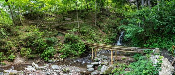 九頭龍の滝 パノラマ写真 檜原村