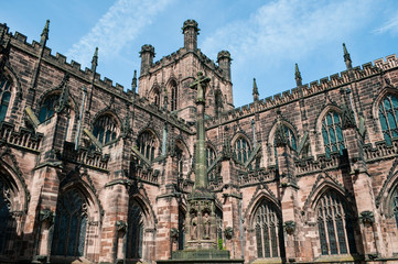 Chester Cathedral, south-west exterior, Chester, UK Fotomurales