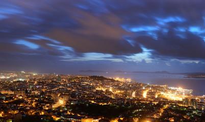 aerial panoramas of the city of vigo