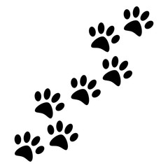 Dog or cat paw isolated on background. Vector flat design