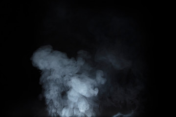 Smoke on black backgroun