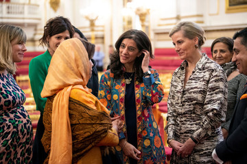 Britain's Sophie, Countess of Wessex, during a reception on International Women's Day at Buckingham Palace