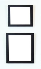 Contemporary frames on wall