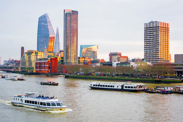 Cityscape of London, River Thames
