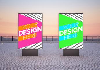 Two Outdoor Vertical Billboards