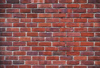 red brick wall close up