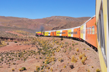 So called Train to the clouds goes from Salta to La Polvorilla viaduct.