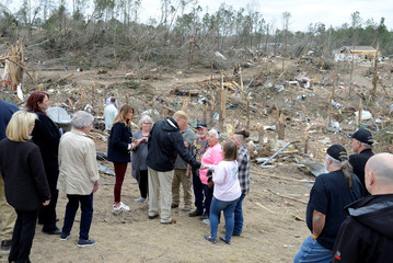 President Trump visits tornado-ravaged Alabama