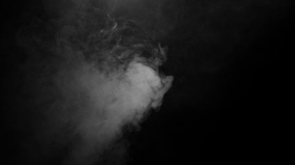 Texture of smoke on black background. Isolated smoke, texture of smoke, abstract powder, water spray on black background.