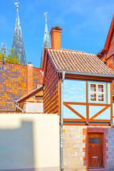 Wall Mural - Amusing small half-timbered house