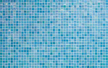 Obraz blue tile wall background - fototapety do salonu