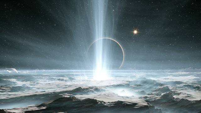 The huge geysers on Jupiter's icy moon Europa
