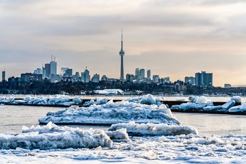 A view of Toronto during wintertime