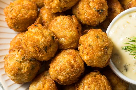 Homemade Seafood Mini Crab Cake Balls