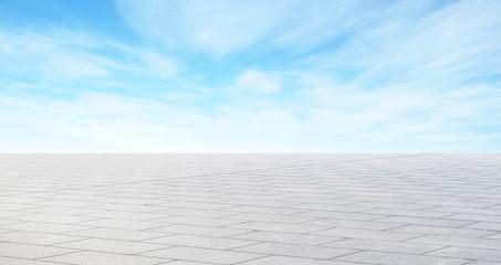Empty asphalt road with blue sky for mockup