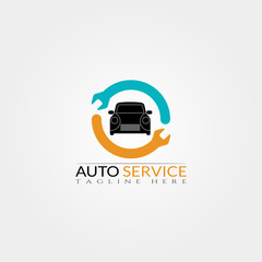 Car service icon template,creative vector logo design,illustration element