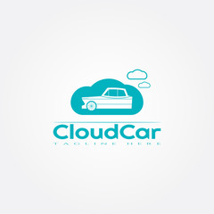 Car icon template,cloud,creative vector logo design,illustration element