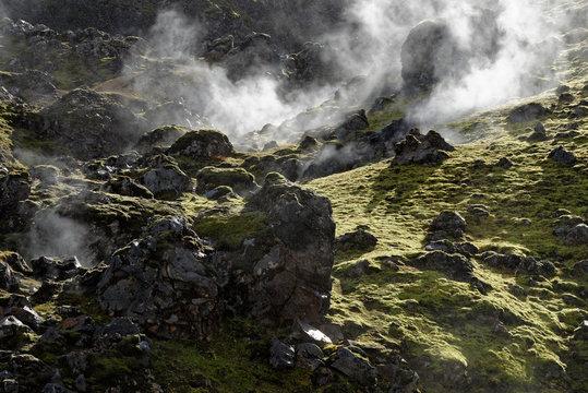 erkaltete Lava, Landmannalaugar, Island
