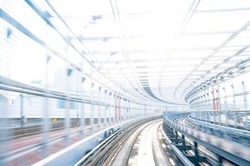 電車からの集中線