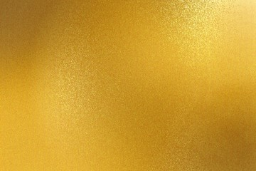 Shiny gold steel wall, abstract texture background