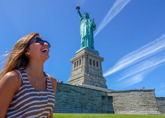 Statue of liberty, Manhattan, New York, USA