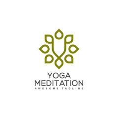 Yoga Ornament illustration vector Design template