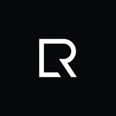 Outstanding professional elegant trendy awesome artistic black and white color LR RL initial based Alphabet icon logo.