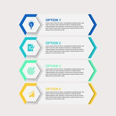 business infographic template 4 options