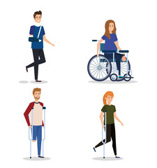set people with disabled and physical injury