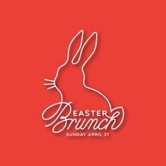 Easter Brunch linear lettering