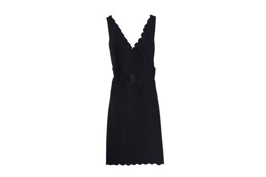 Little black dress isolate on white background.