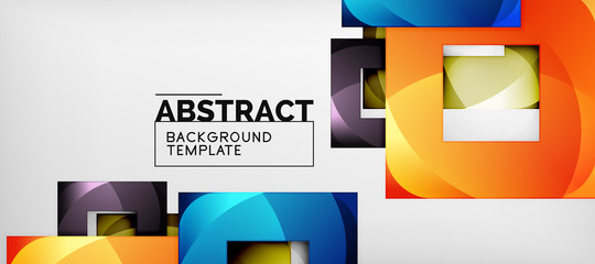 Background with color squares composition, modern geometric abstraction design for poster, cover, branding or banner