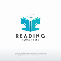 Reading Book logo designs concept vector, Education logo template