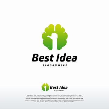 Best Idea logo designs concept vector