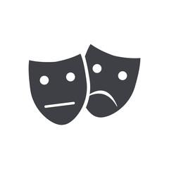 Theater masks art.