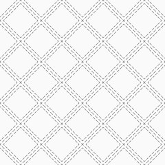 Abstract seamless pattern of dotted rhombusess.