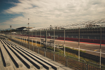 tribunes at Monza race circuit near Milan lombardy Northern Italy when not racing during summer