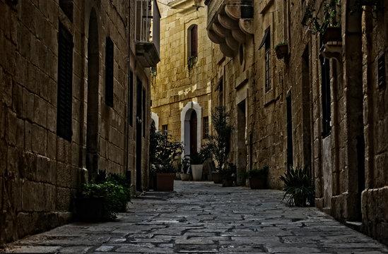 Historical Road in Birgu, Malta
