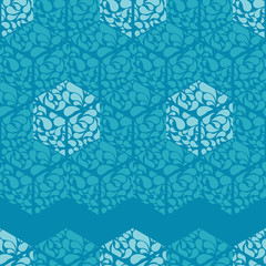 Trendy seamless pattern designs. Hexagons of drops. Vector geometric background. Can be used for wallpaper, textile, invitation card, wrapping, web page background.