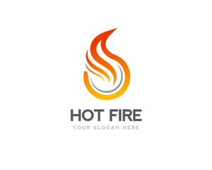 circle Hot fire logo design inspiration
