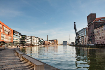 Kreativkai, Kanal Hafen von Münster in Westfalen