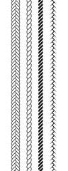 Ropes pattern brushes.